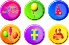 кнопки дня рождения Стоковые Изображения