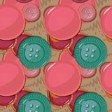 кнопки делают по образцу безшовное также вектор иллюстрации притяжки corel иллюстрация штока