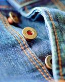 Кнопки джинсов на мухе Стоковые Изображения RF
