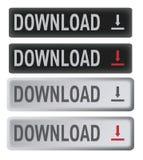 кнопки загружают комплект Стоковое Изображение