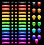 кнопки закрепляя сеть вектора путя иллюстрации Стоковая Фотография