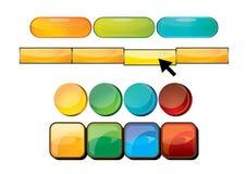 кнопки закрепляя сеть вектора путя иллюстрации Стоковые Фото