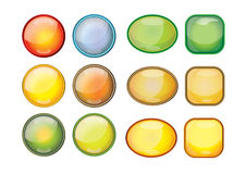кнопки закрепляя сеть вектора путя иллюстрации Стоковые Фотографии RF