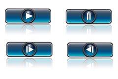 кнопки играют нажим Стоковое Изображение RF