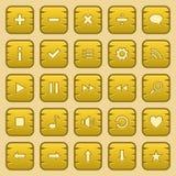 Кнопки игры Стоковые Фотографии RF