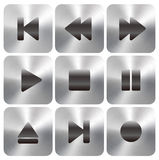 Кнопки игры UI средств массовой информации Стоковые Изображения RF