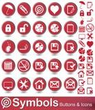 Кнопки и значки символов Стоковая Фотография RF