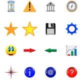 Кнопки и иконы 21.11.12 Стоковое Изображение RF