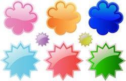 Кнопки или стикеры вебсайта Стоковая Фотография