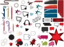 Кнопки или стикеры вебсайта Стоковая Фотография RF