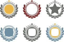 Кнопки или стикеры вебсайта Стоковые Фотографии RF