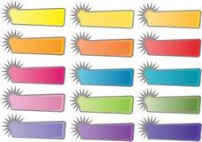 Кнопки или стикеры вебсайта Стоковые Фото