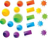 Кнопки или стикеры вебсайта Стоковое Изображение RF