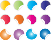 Кнопки или стикеры вебсайта Стоковые Изображения