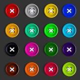 Кнопки Комплект пестротканых кнопок вектор Стоковое Изображение