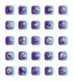 кнопки конструируют установленную сеть вектора Стоковое фото RF