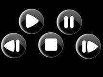 кнопки контролируют глянцеватое Стоковое Изображение