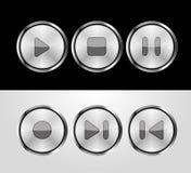 кнопки контролируют металлическое иллюстрация вектора