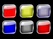 кнопки красят лоснистый вектор комплекта Стоковая Фотография RF