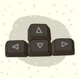Кнопки клавиатуры с стрелками Стоковое Изображение RF