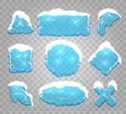Кнопки льда и интерфейса снега бесплатная иллюстрация