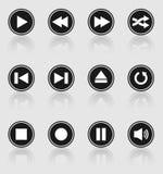 Кнопки медиа-проигрывателя Стоковое Изображение RF