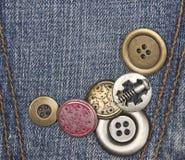 Кнопки металла Стоковая Фотография RF