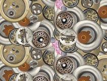 Кнопки металла Стоковое Изображение RF