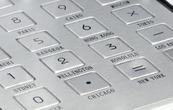 Кнопки металла на устройстве Стоковое Изображение