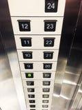 Кнопки номера лифта Стоковое Фото