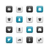 Кнопки одежды людей Стоковое Фото