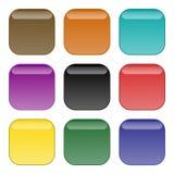 кнопки окаймляют округленный квадрат Стоковые Фото