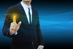 Кнопки отжимать руки современные социальные Стоковое Изображение RF