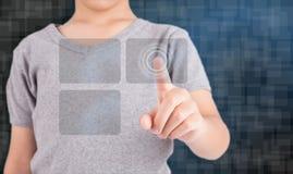 Кнопки отжимать руки современные социальные Стоковое Фото