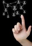 Кнопки отжимать руки современные социальные Стоковые Фото