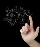 Кнопки отжимать руки современные социальные Стоковая Фотография RF