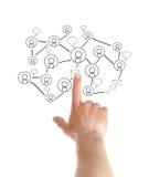 Кнопки отжимать руки современные социальные Стоковое Изображение