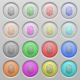 Кнопки отпечатка пальцев утонутые пластмассой Стоковые Изображения