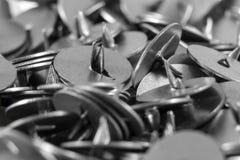 Кнопки офиса металла Стоковое Изображение