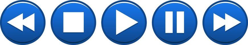 Кнопки паузы стопа игры голубые бесплатная иллюстрация