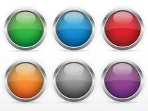 Установленные кнопки паутины Стоковое Фото