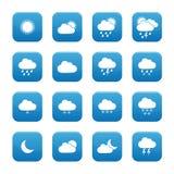 Кнопки погоды Стоковые Изображения