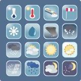 Кнопки погоды Стоковые Фотографии RF