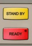 кнопки подготавливают стойку Стоковое Фото