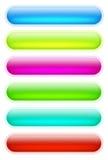 кнопки покрасили интернет Стоковое Изображение RF
