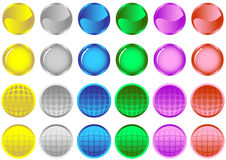 кнопки покрасили лоснистым Стоковое Изображение