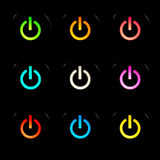 кнопки приводят комплект в действие Стоковое фото RF