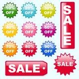 Кнопки продажи Стоковые Фотографии RF