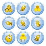 кнопки пчел Стоковые Фотографии RF