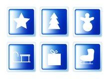 Кнопки рождества установленные Стоковые Изображения
